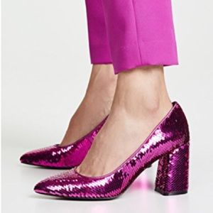 🎉HP🎉 Alice & Olivia Demetra Fuchsia Sequin Pumps